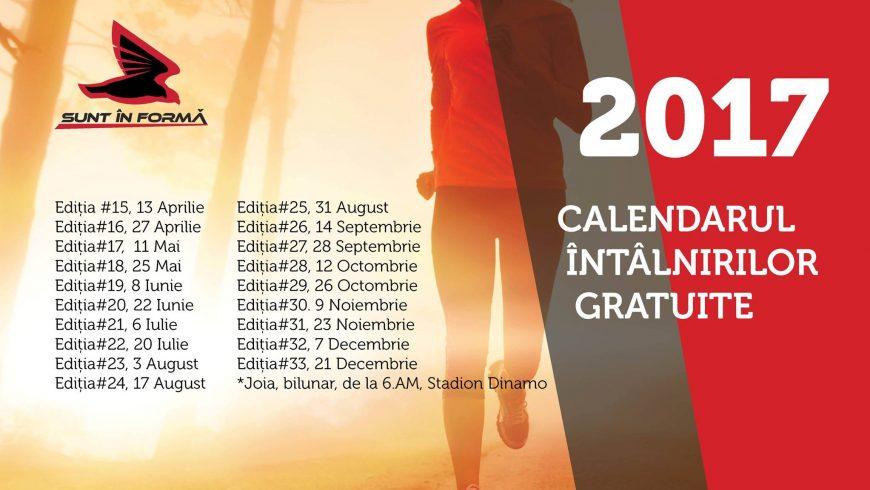 Calendar ediții gratuite SUNT ÎN FORMĂ NATURALĂ