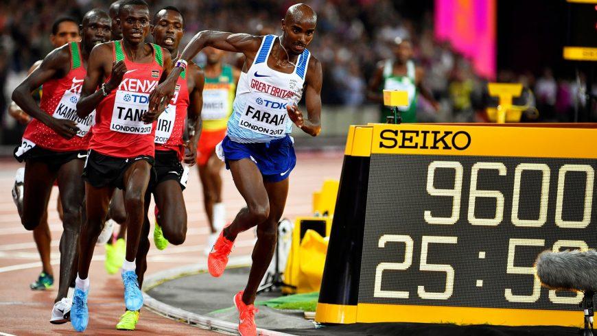 Mo Farah își apără titlul mondial pentru 10.000 m, la Londra