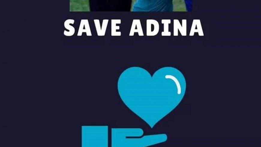 Speranță la viață pentru Adina!